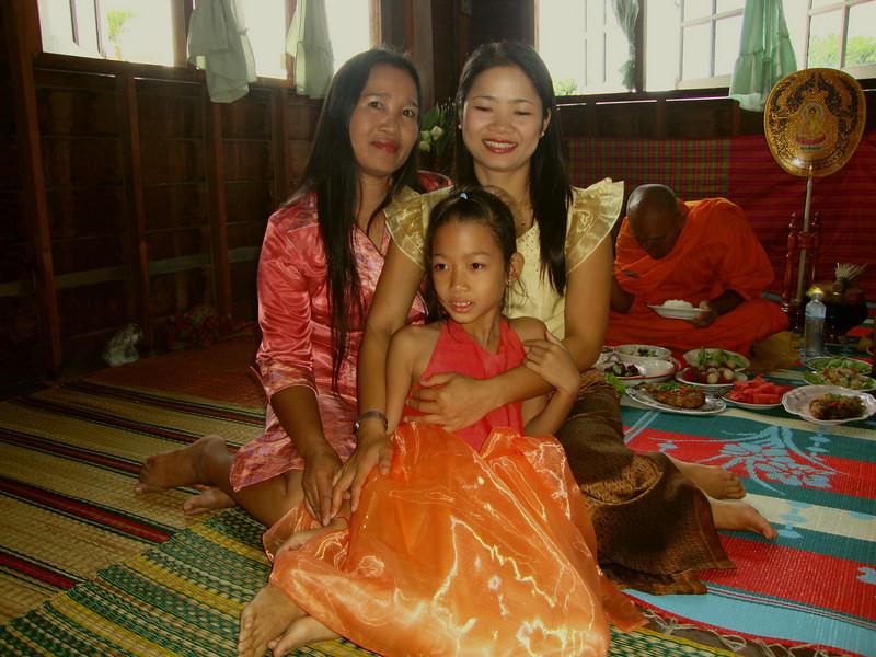 Pim, Yupin (Id), and Attitaya (Aoei).  Seems almost everyone in Thailand has nickname.