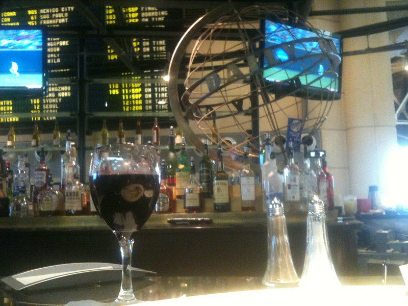 Waiting at the Daily Grill at LAX Intenational Terminal.  Always an interesting time talking with fellow travelers