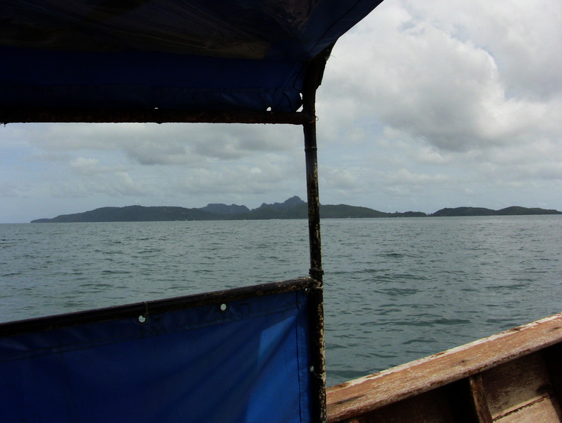 A view of Koh Phi Phi from the longboat.<br /> (Koh means Island in Thai)