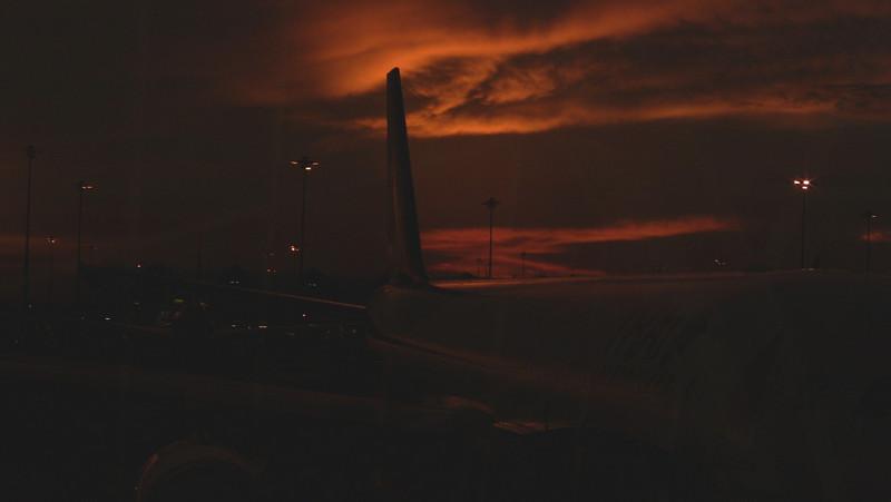 Sunset at Bangkok airport.