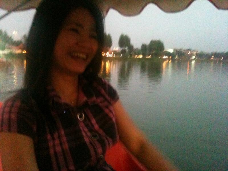 Despite my jetlag, Id drug me out for a paddleboat ride in Khon Kaen the evening I arrived.
