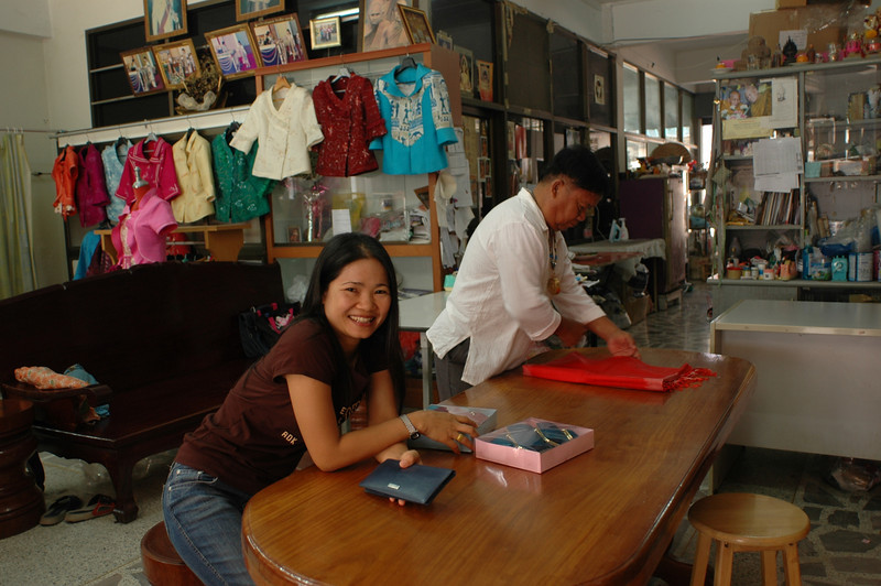 buying gifts at local merchant