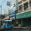 typical street in a Thailand city other than Bangkok