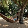 Id enjoying a bamboo hammock