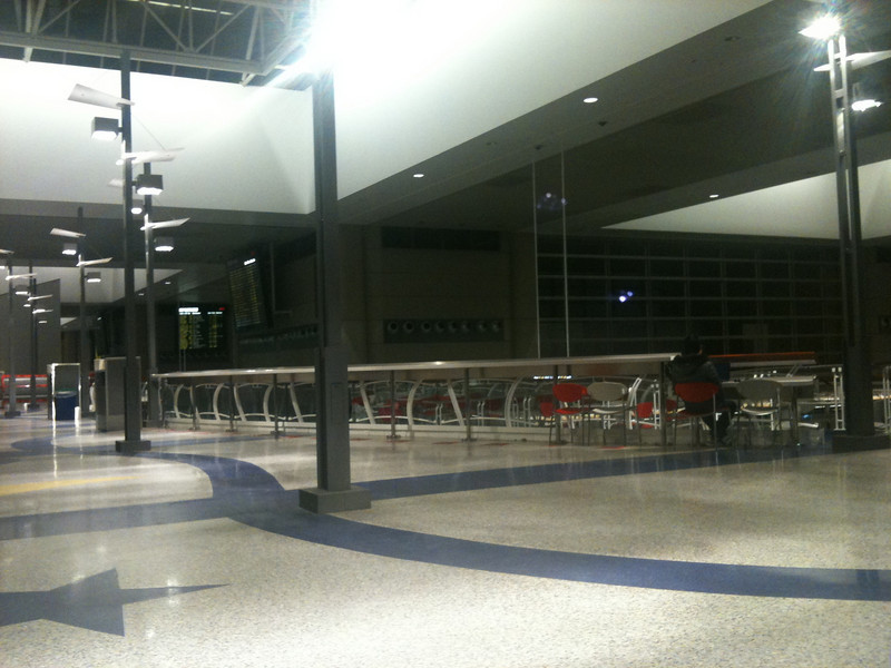 Lonely night in LAX.  Can't wait to get home to Austin.  39 hours of traveling through airports and planes was quite enough.