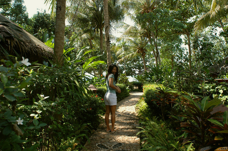 lush tropical grounds of the Remark Cottages