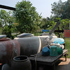 More of the rainwater collection tanks