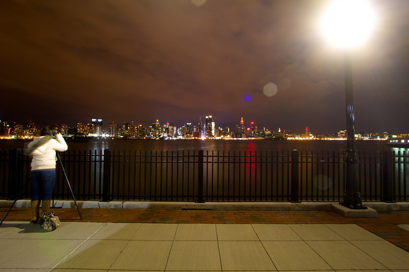Photographing the New York City skyline.
