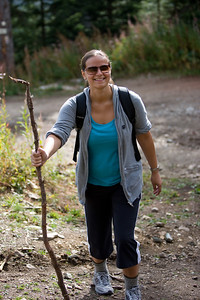 Nikola and her walking stick!