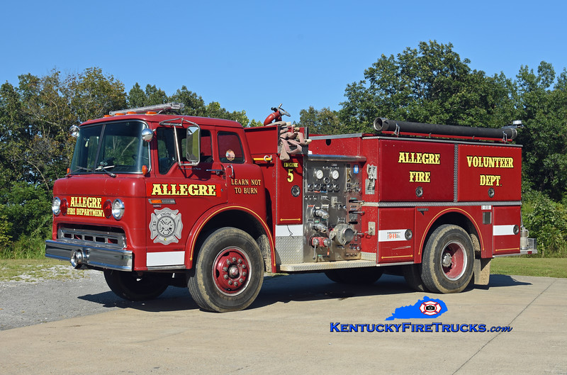 Allegre  Engine 5<br /> 1986 Ford C-8000/Grumman 1000/750<br /> Kent Parrish photo