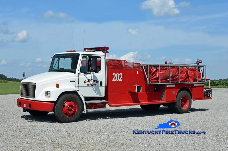 Allensville  Engine 202<br /> 2000 Freightliner FL70/Local 250/2200<br /> Kent Parrish photo