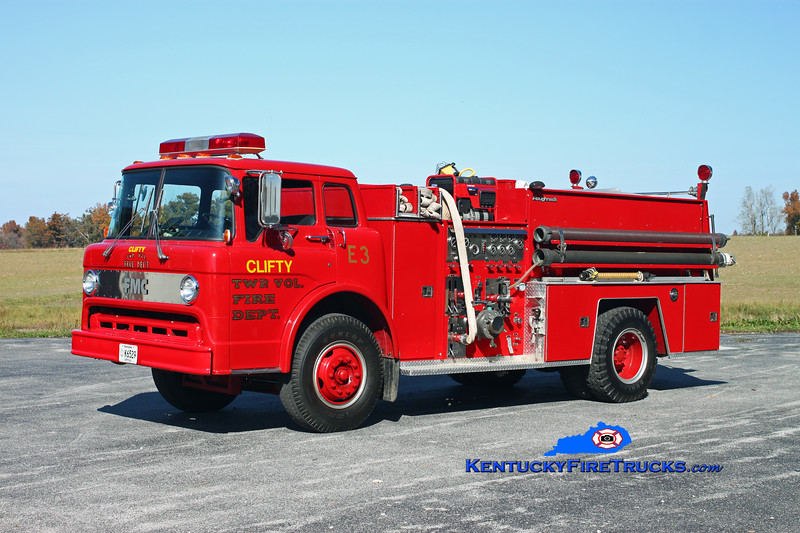 <center> Clifty Engine 73  <br> x-Johnson Twp (Knox County), IN <br> 1984 Ford C-900/FMC 1000/750  <br> Kent Parrish photo </center>