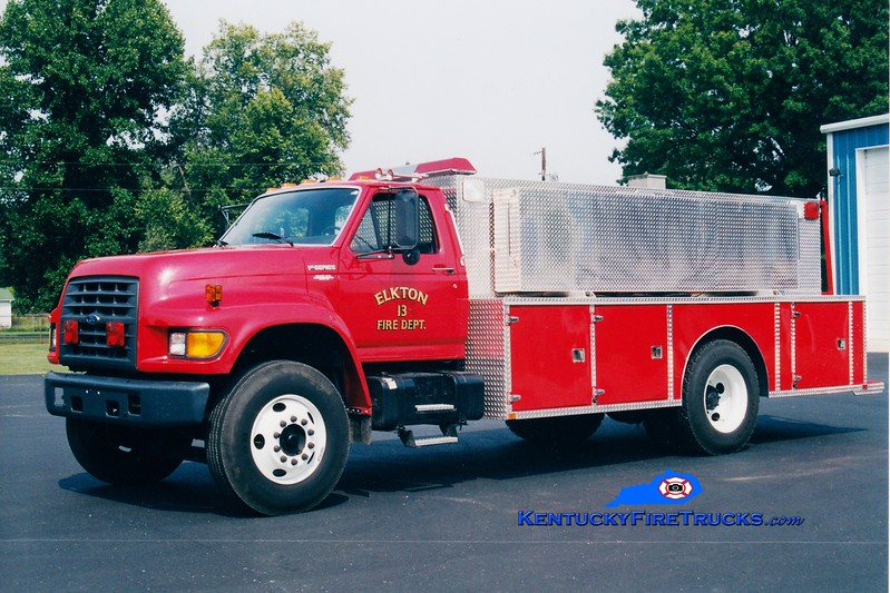 <center> RETIRED <br> Elkton  Tanker 13  <br> 1997 Ford F/Wimpee's Welding 250/1800  <br> Greg Stapleton photo </center>