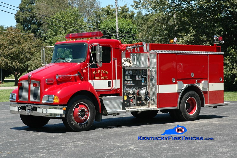 <center> Elkton  Engine 11  <br> 2003 Kenworth T-300/Pierce 1250/1000  <br> Greg Stapleton photo </center>