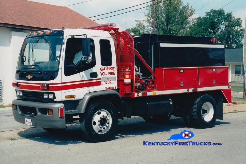 <center> Guthrie  Tanker 1  <br> 2001 Chevy/Mertz 500/1800  <br> Greg Stapleton photo </center>