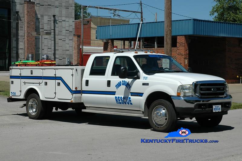 <center> Todd County Rescue 31 <br> 2001 Ford F-450/Fibre Body  <br> Greg Stapleton photo </center>