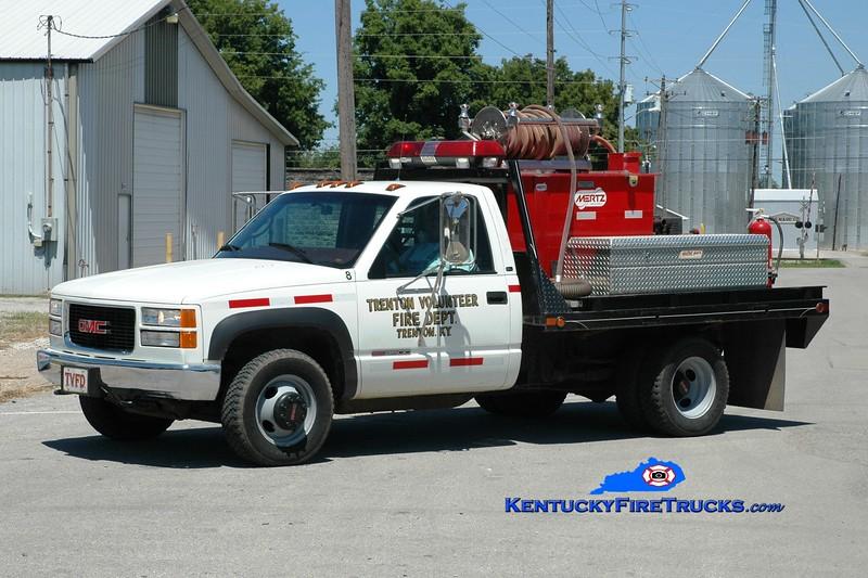 <center> Trenton Unit 8  <br> 1990 GMC 3500/Mertz 250/200  <br> Greg Stapleton photo </center>