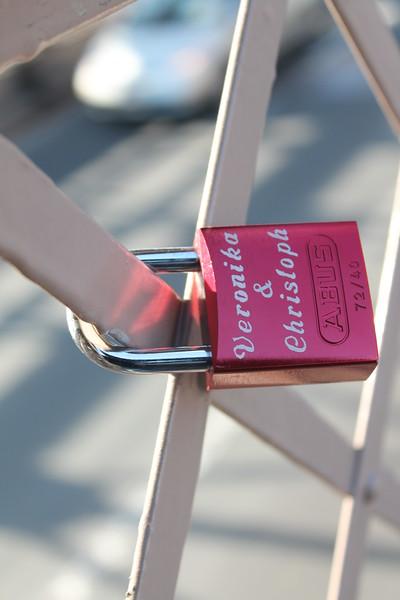 Love Locks on the Brooklyn Bridge.