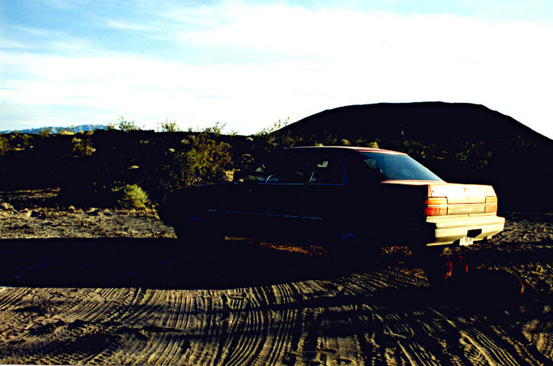 Honda Prelude on the lava fields of Amboy Crater - 1995