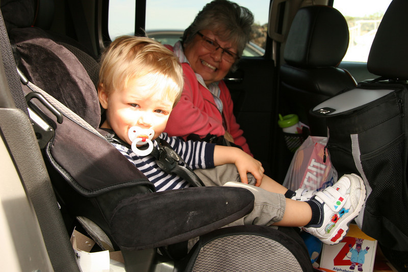 Skyler at Amboy Crater Parking Lot - 2009