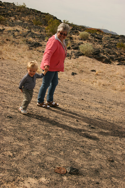 Skyler A. and Annie A. Lava Fields - Amboy Crater - 2009