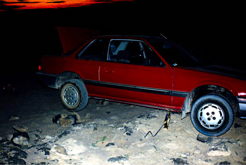 Stuck on the Amboy Lava Fields - 1995