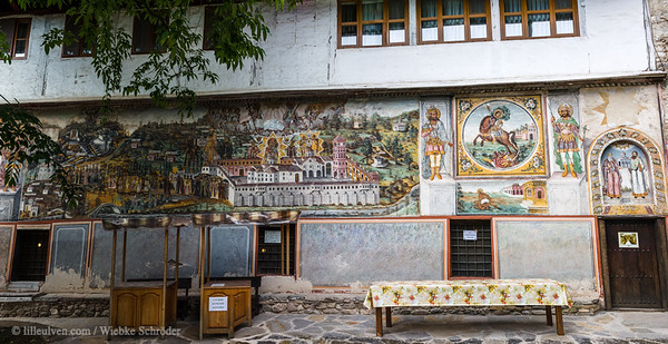 Old Refectory with a fresco of the procession -  – Lavender fields & Legends