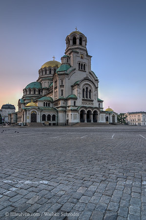Sunrise over the Alexander Nevsky Cathedral - Sofia