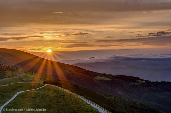 Full version of the pano-cut of the Sunset over Beklemento Pass in Bulgaria - Welcome to June 2021