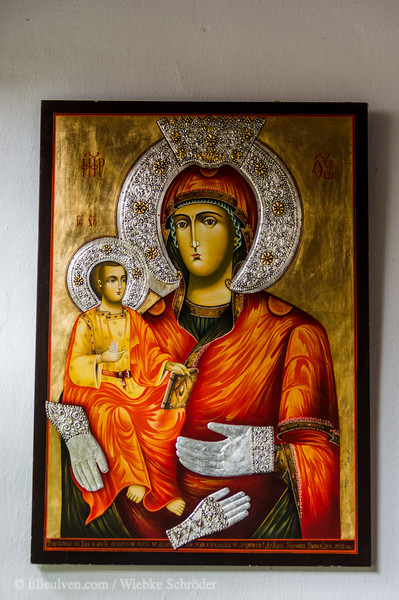 Three-handed virgin Mary - Icon in the Troyan Monastery.