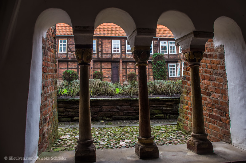 Arched walkway / cloister of the cathedral of Verden