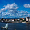 Oslo seen from the roof of the Opera - harbor side