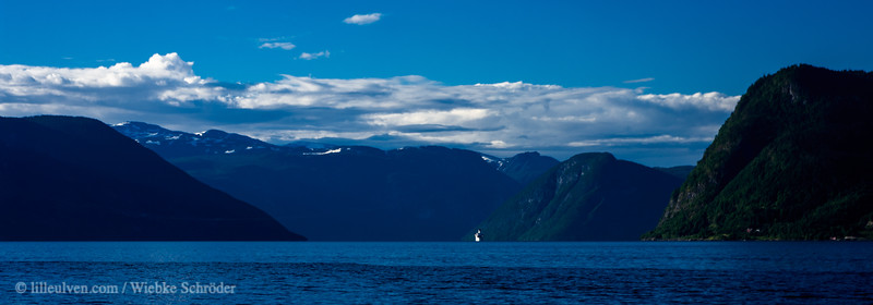 Traveling the Sognefjorden by boat