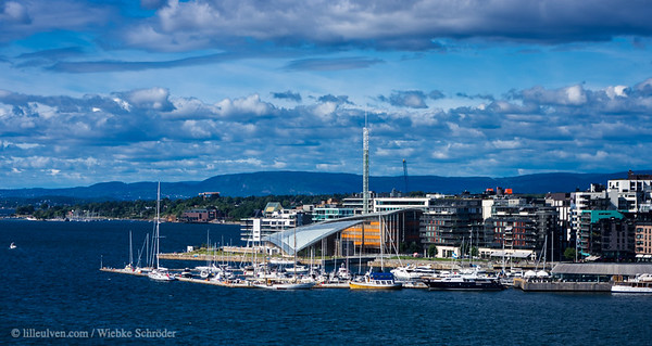 Akerbrygge and the Oslo fjord