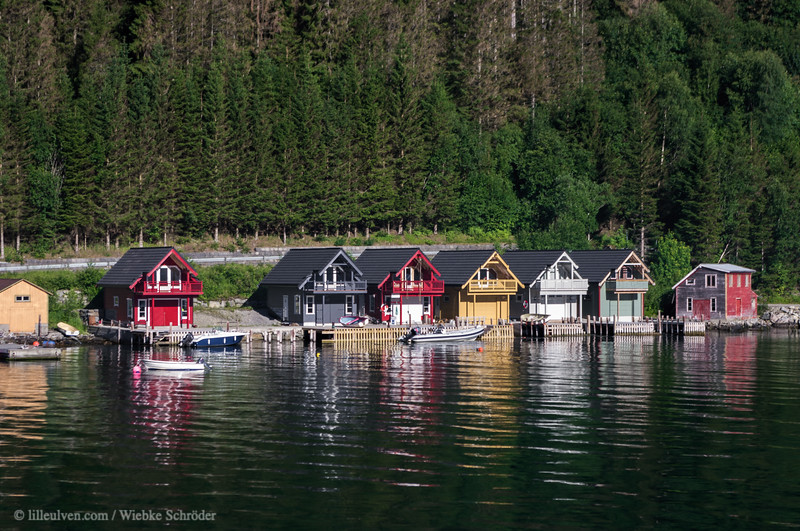 Boathouses in Vik