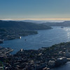 The city of Bergen from Fløyen