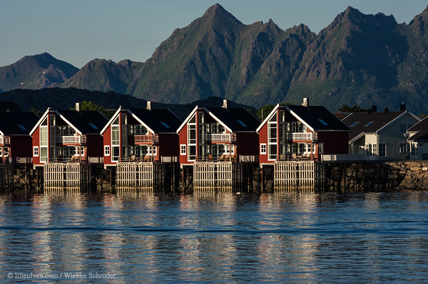 Svolvær harbor and the famous Rorbuer