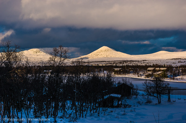Afternoon over the mountains of Venabu