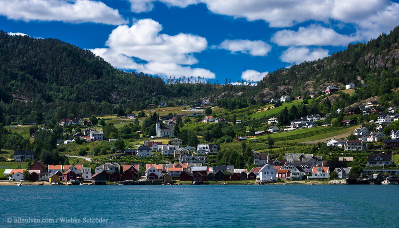 Solvorn from the ferry across the Lusterfjord to Ornes