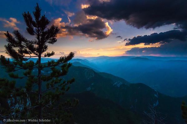 Sunset over the Rhodope Mountains