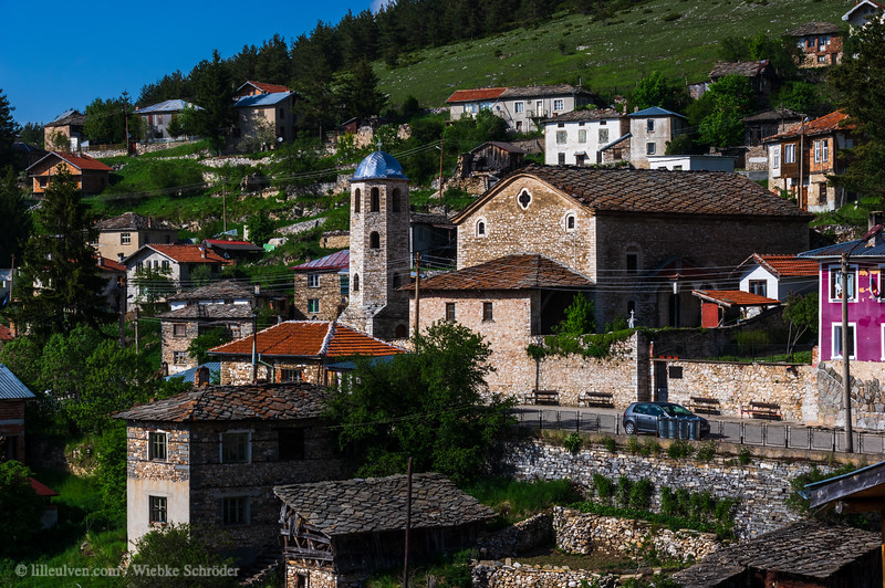 Small village in the Rhogope Mountains
