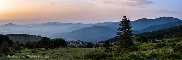 Sunrise panorama in the Rhodope Mountains