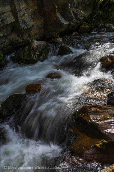The cascading river