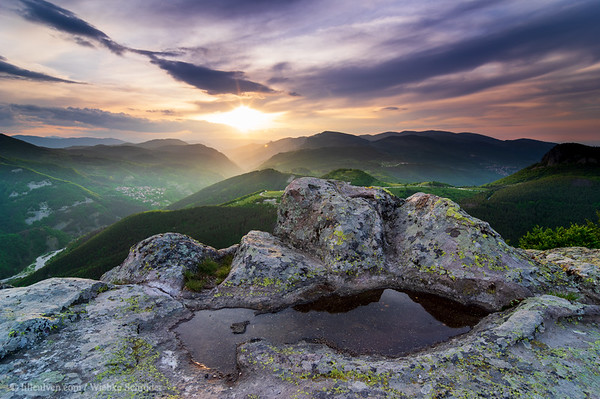 Sunset from the Thracian Sanctuary, a sacred place of old