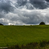 Stormclouds over the fields of Highbridge