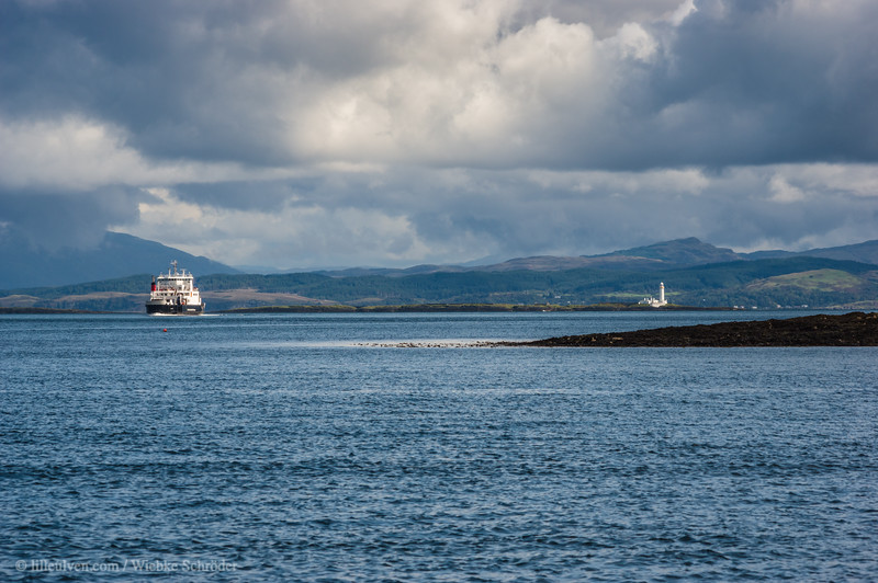 Ferry toward Craignure and Lismore Lighthouse