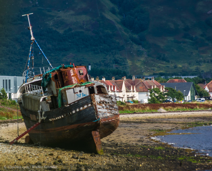Ships wreck in Caol seen from Corpach