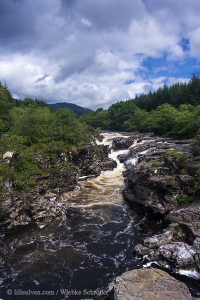 River Orchy at the Eas Urchaidh Waterfall