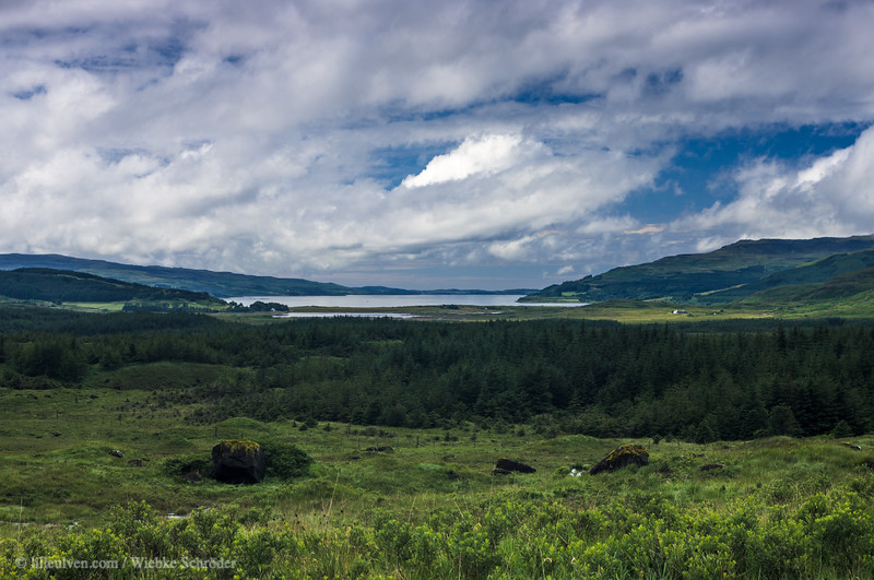 Pennyghael and Loch Scridain on the Isle of Mull