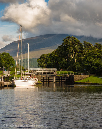 First gate of the Caledonian Canal in Caol